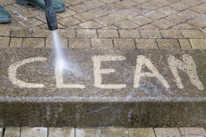 Sidewalk commercial power washing by universal site services