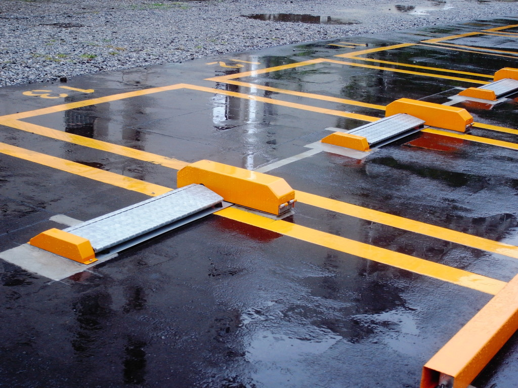 Standing Water in a Parking Lot