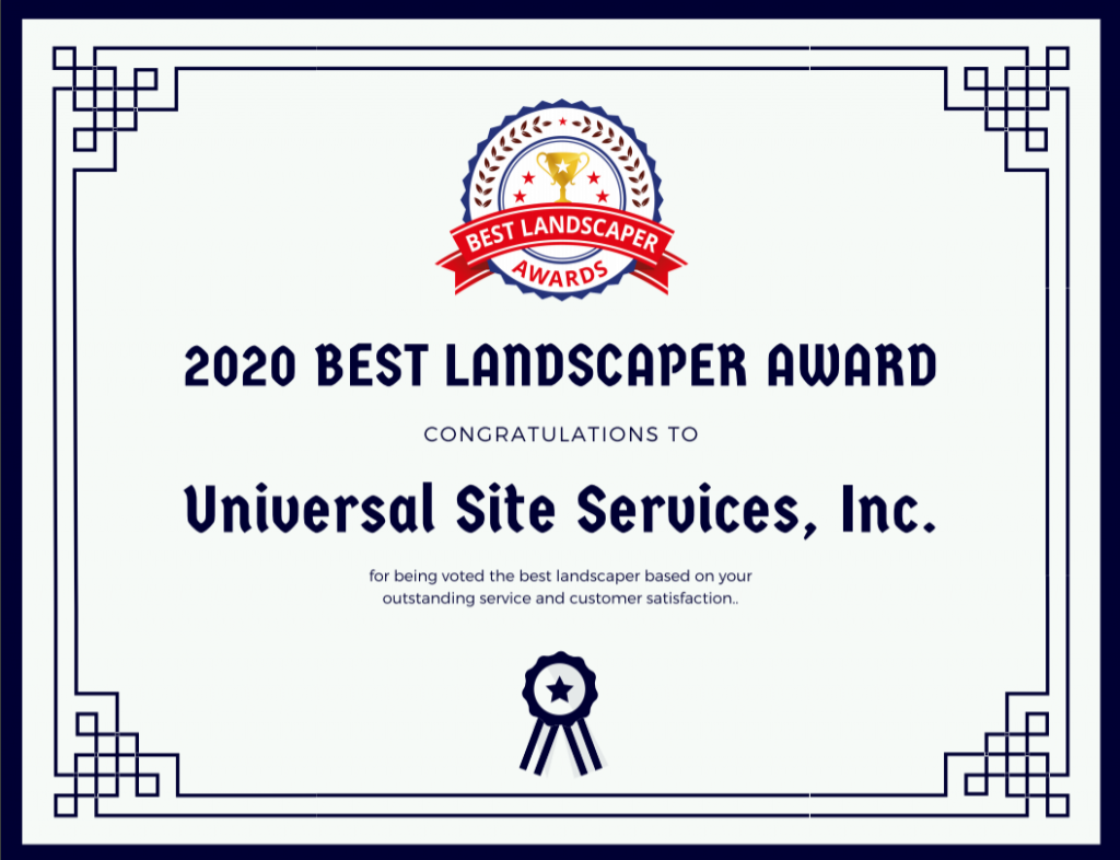 Universal Site Services, Inc - Certificate