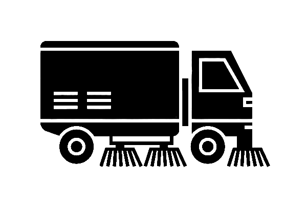 Parking Lot Sweeper Icon