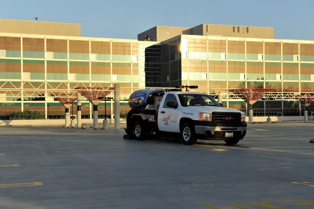 Universal Site Services | Parking Lot Sweeping